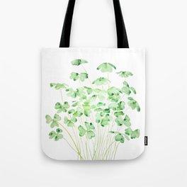 green clover leaf  watercolor arts 2021 Tote Bag