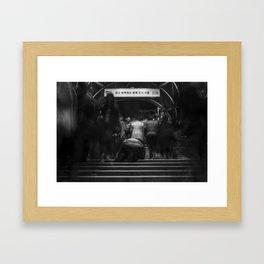 Shadows of Gangnam #1 (Beggar) Framed Art Print