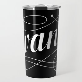 Swanky in Black Travel Mug