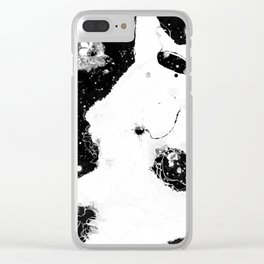 Stardust B&W * When will I join you? Clear iPhone Case