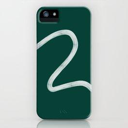 Kinda Wave in Emerald iPhone Case