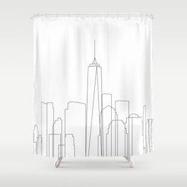 New York City Skyline Outline Shower Curtain
