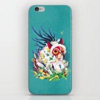 princess mononoke iPhone & iPod Skins featuring Princess Mononoke by Stephanie Kao
