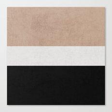 classic - natural, cream and black Canvas Print