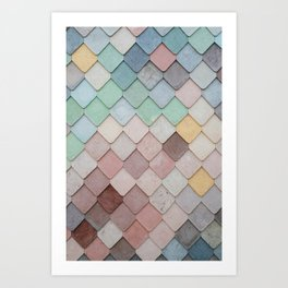 Colorful Tiling Art Print