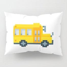 Pixel School Bus Pillow Sham