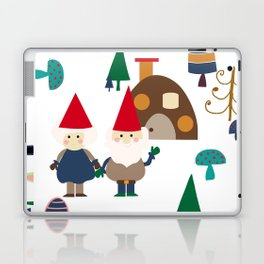 Gnome white Laptop & iPad Skin