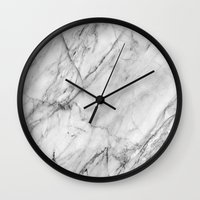 xbox Wall Clocks featuring Marble by Patterns and Textures
