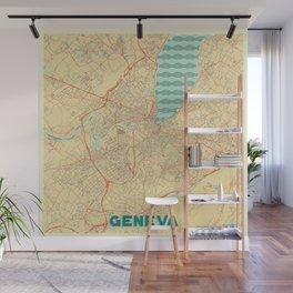 Geneva Map Retro Wall Mural