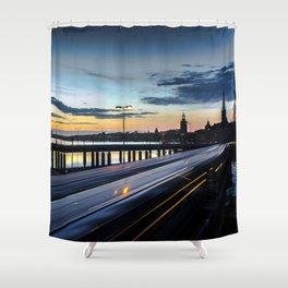 Stockholm Night - Slussen Shower Curtain