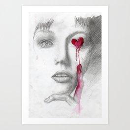 Bleeding Love Art Print
