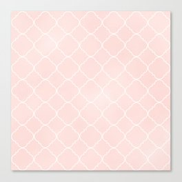 Pink Coral Moroccan Canvas Print