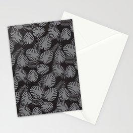 Tropical Print Grey & Black Stationery Cards