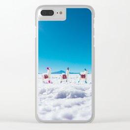 Mini Llamas on the Bolivia Salt Flats Clear iPhone Case