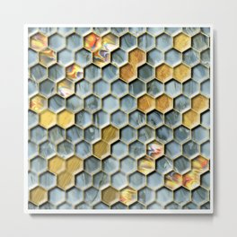 Hexagon Marble LJXLSTSC Metal Print