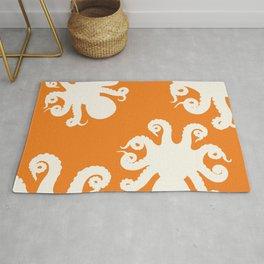 Orange Octopus Rug