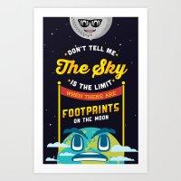 Footprints on the Moon Art Print