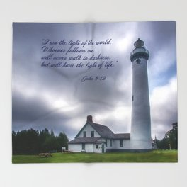 Sturgeon Point Lighthouse Throw Blanket