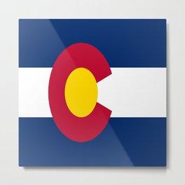flag colorado,america,usa,south,desert, The Centennial State,Coloradan,Coloradoan,Denver,Springs Metal Print