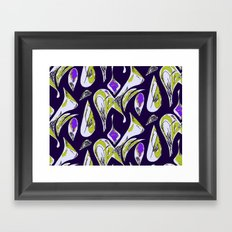 Ocean Purple Framed Art Print