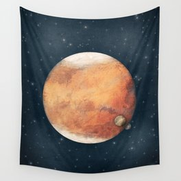 The Red Planet Wall Tapestry