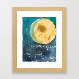 Jungian Moon Framed Art Print