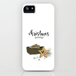 Christmas composition iPhone Case