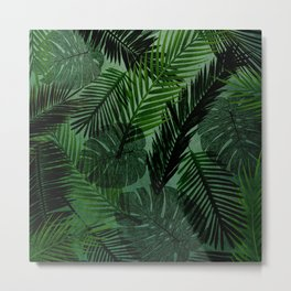 Green Foliage Metal Print