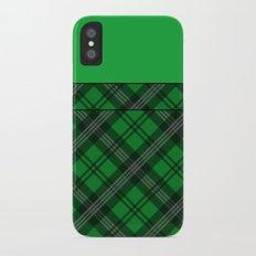 Scottish Plaid (Tartan) - Green iPhone X Slim Case