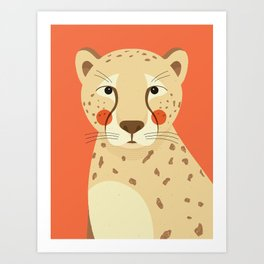 Cheetah, Animal Portrait Art Print