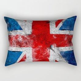 Great Britain grunge flag Rectangular Pillow