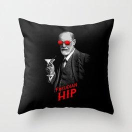 Hipster Psychologist Sigmund Freud Throw Pillow