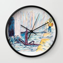 X voYages de Zed (toile 7 - série 1) Wall Clock