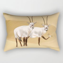 Arabian Oryx Rectangular Pillow
