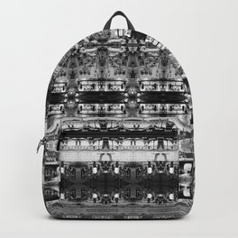 Cafe Stripe Photographic Pattern Art Print #1 Backpack
