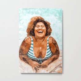 Curvy & Happy #painting #illustration Metal Print