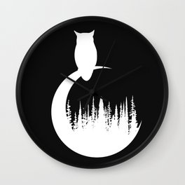 White Owl Wall Clock