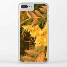 Yellow Sideways Sumac Clear iPhone Case