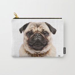 Helmut the Pug - Gold Chain Carry-All Pouch