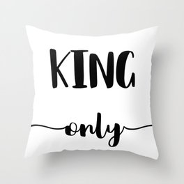 KING ONLY Throw Pillow
