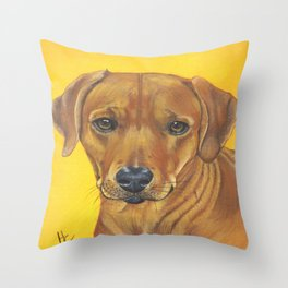 Enzo a gorgeous Rhodesian Ridgeback Throw Pillow