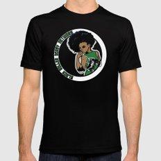 BRDN - Afro Skater MEDIUM Mens Fitted Tee Black
