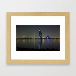Dubai by night Framed Art Print