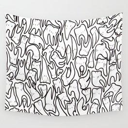 Full of Teeth III p Wall Tapestry