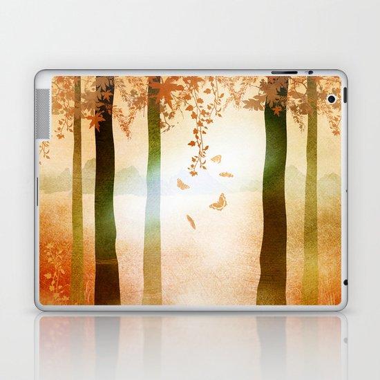sunrise in autumn Laptop & iPad Skin