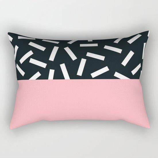 Memphis pattern 24 Rectangular Pillow