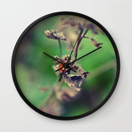 The Summer Bug Wall Clock