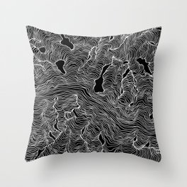 Inverted Enveloping Lines Throw Pillow
