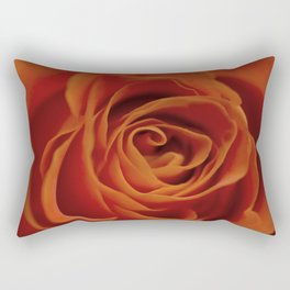 Orange rose closeup Rectangular Pillow