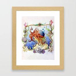 Octopus Wench Framed Art Print